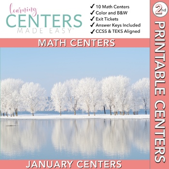 January Centers--2nd Grade MATH ONLY