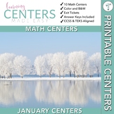 January Centers — First Grade Math ONLY