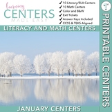 January Centers — First Grade Math and ELA