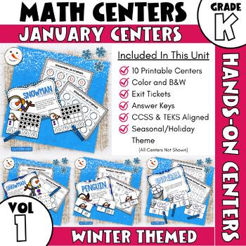 January Centers -- Kindergarten Math ONLY