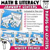 January Centers -- Kindergarten Math and ELA