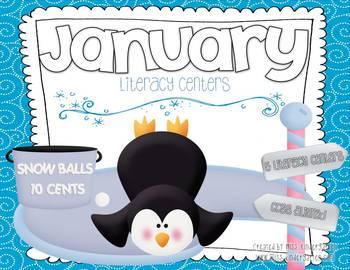 January Centers {Literacy}