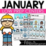 Low Prep January Centers | Math and Literacy Centers