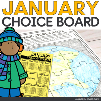 January Choice Board | All About Weird and Wacky National Holidays