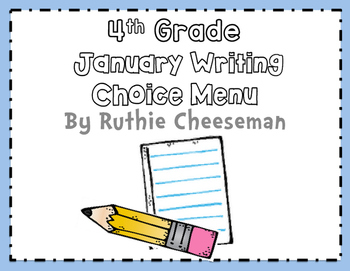 January Choice Writing Menu