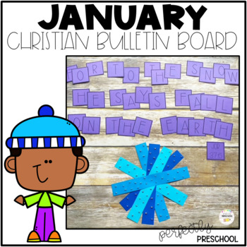 January Christian Bulletin Board Set 2021 By Perfectly Preschool