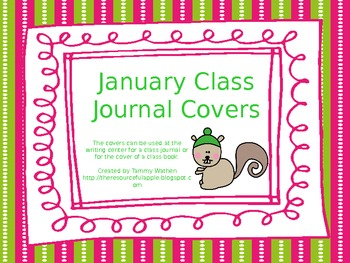 January Class Journal Covers *FREEBIE*