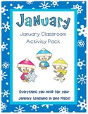 January Classroom Activity Pack