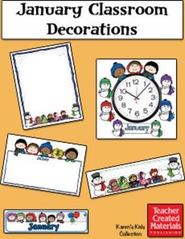 January Classroom Decorations by Karen's Kids (Digital Download)