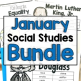 "January ""Click-and-Print"" Social Studies Bundle"