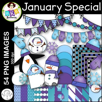 January Clip Art ● January Monthly Special ● Limited Time Offer