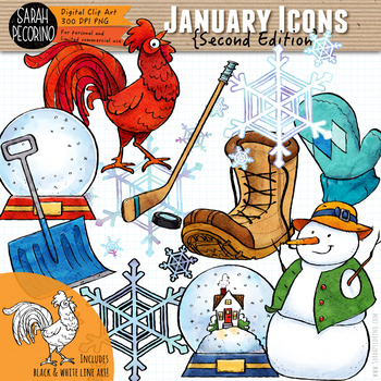 january clip art second edition