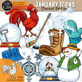January Clip Art {Second Edition}