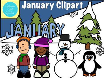 January Clipart