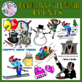 January Clipart - Celebrate Events