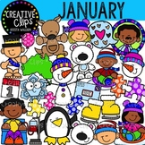 January Clipart {Creative Clips Clipart}