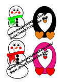 January Clipart, Penguin, Snowman