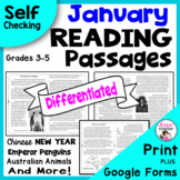 Reading Comprehension Passages and Questions - January wit