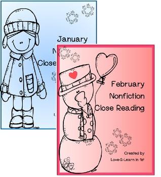 January Close Reading Bundle