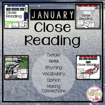 January Close Reading Bundle {4 packs in 1}