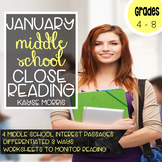 Reading Comprehension Passages and Questions - January