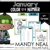 January Color By Number for 4th Grade Math