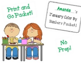 January Color By Numbers! PRINT AND GO!