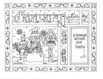 January Color Sheet
