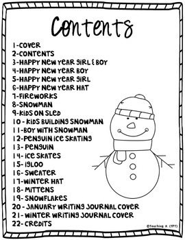 January Color & Write (Writing Journal for K-2)