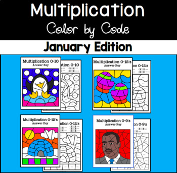 January Color by Code—Multiplication
