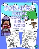 January Color by Sight Word FREEBIE