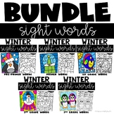 January Coloring Pages with Sight Words