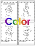 Preschool / Kindergarten - January Coloring and Dot to Dot