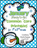 January Common Core Printables for 1st & 2nd Grade {Ready-to-Go}