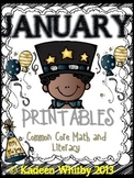 January Common Core Review Printables Pack