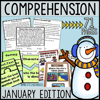 Kindergarten & First Grade Comprehension: JANUARY