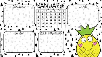 January Computer Desktop Organizer
