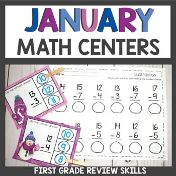 January Math Centers