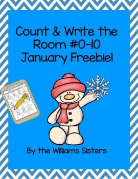 January Count and Write the Room 0-10 Freebie!
