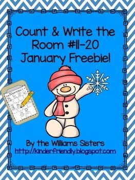 January Count and Write the Room 11-20 Freebie!