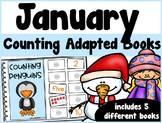 January Counting Adapted Books {set of 5 books) Print and Digital