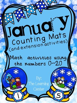 January Counting Mat and Number (0-20) Acvtivities