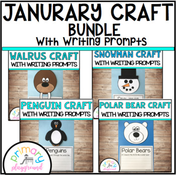 January Craftivities With Writing Prompts/Pages