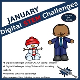 January DIGITAL STEM challenges | coding | winter |  Martin Luther King Jr.