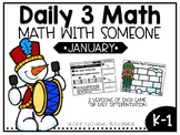 January Daily 3 Math with Someone Games