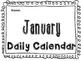 January Daily Calendar Activity Journal