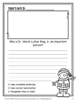 January Daily Journal (Writing Prompts)