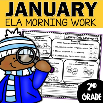January Daily Language (2nd Grade) -  morning, homework or independent work