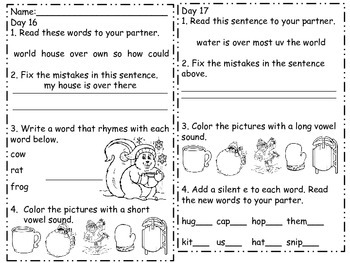 January Daily Language Practice and Assessment for 1st Grade