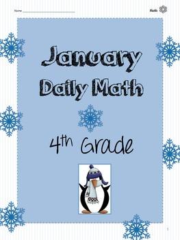 January Daily Math {4th Grade}